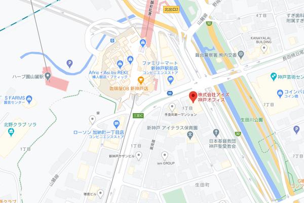神戸市中央区熊内町4丁目8-4-8Fの地図